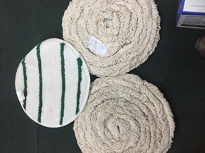 """3x Carpet Bonnets 1 is G17 17""""   2 are loop type New scrubbers JANITORIAL"""