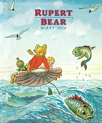 Rupert Bear illustrated desk diary 2016 by Flame Tree Publishing Book The Cheap