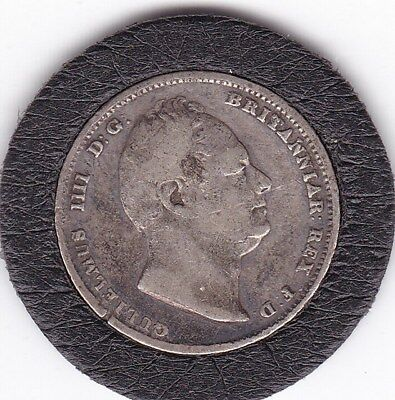 1834  King  William  IV  Sixpence   (6d)  Silver  (92.5%)   Coin