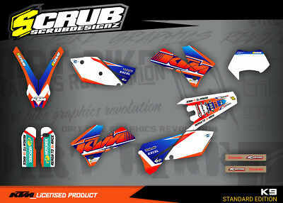 KTM graphics EXC decals kit 125 250 300 450 525 2005 2006 2007 stickers '05-'07