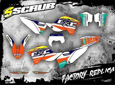 KTM graphics EXC 125 250 300 450 530 2008 2009 2010 2011 '08-'11 SCRUB decals