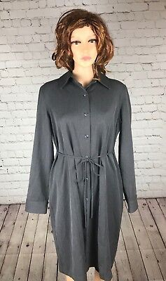 Motherhood Maternity Medium Stretchy Gray Long Coat NICE