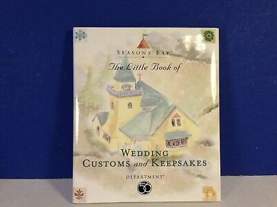 Dept 56 THE PERFECT WEDDING BOOK ONLY Seasons Bay Village