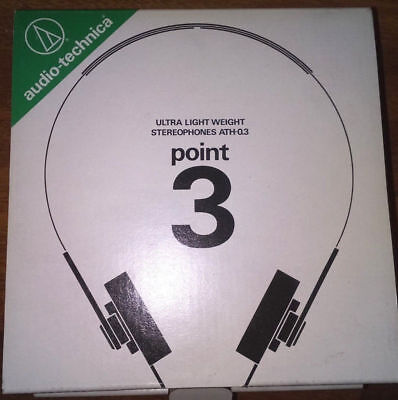 Audio technica auriculares ATH -point 3 around year 1980  Made in japan.
