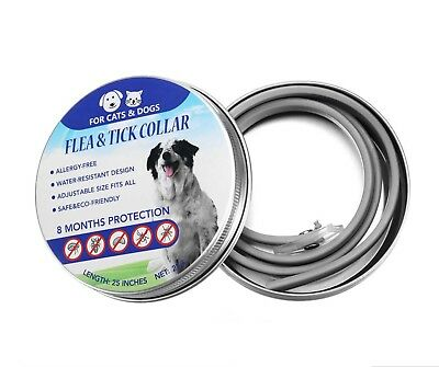 Adjustable Flea and Tick Collar 8 Months for Protection Anti Flea for Large Dogs