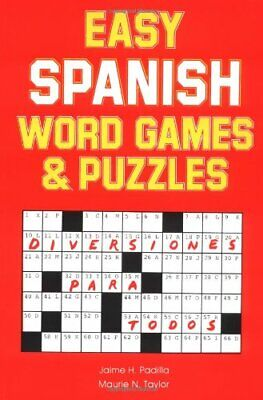 Easy Spanish Word Games & Puzzles (Language - Sp... by Padilla , Jamie Paperback