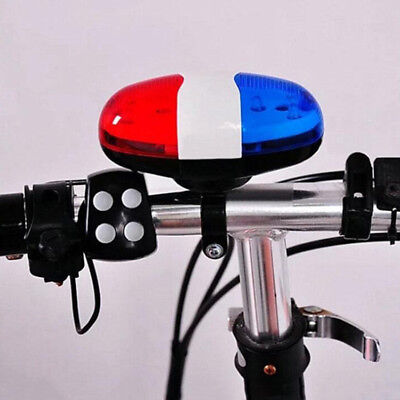 Bicycle Bell 6 LED 4 Tone Sounds Bike Light Electronic Horn For Scooter Light