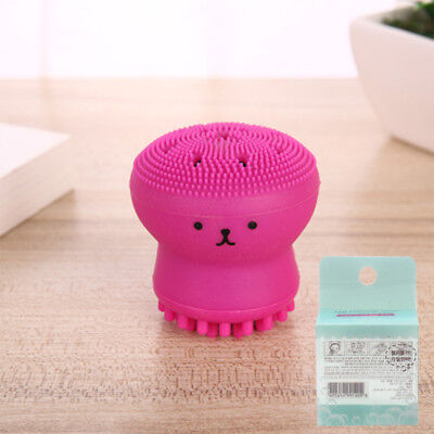 Portable Silicone Jellyfish Blackhead Remover Face Brush Cleaner Beauty Tool NEW