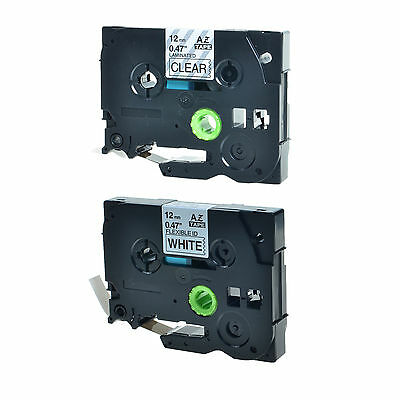 2PK TZ TZe 231 131 Label Tape For Brother P-Touch PT-1290BT2 PT-1290RS 12mm x 8m