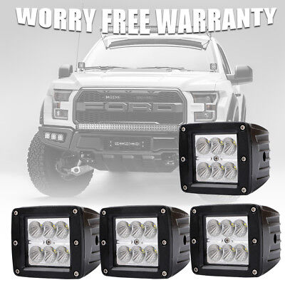 CA (4) Dually Flush Mount 18W CREE LED Pod Lights For Truck Jeep Off-Road ATV