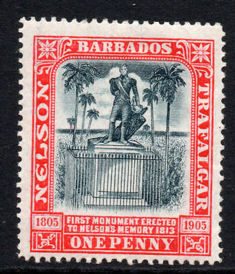 Barbados 1 Penny Stamp c1906 Mounted Mint