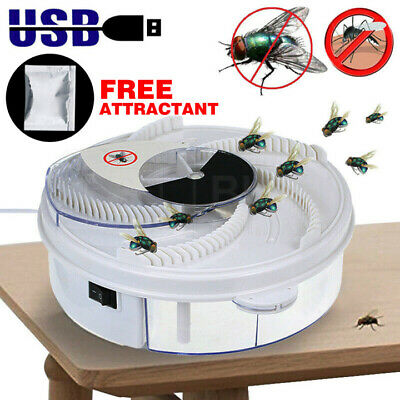 Fly Trap Electric Device with Trapping Food -White USB Cable Insect Killer