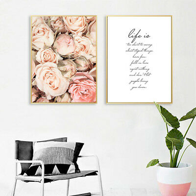 Flower Canvas Poster Wall Art Prints Motivational Painting Nordic Decoration