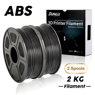3D Printer Filament ABS 1.75mm 2KG/2 Spool Black ABS 3D Printer Consumables