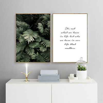 Leaf Plant Canvas Poster Wall Art Prints Motivational Painting Nordic Decoration