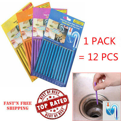 Ampe Sticks Drain Cleaner Sticks Drains Pipes Clear (1/2/5 Packs)