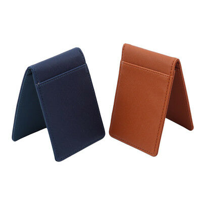 Men Simple Style PU Leather Money Clips Detachable Clip Trendy Wallets Clips B