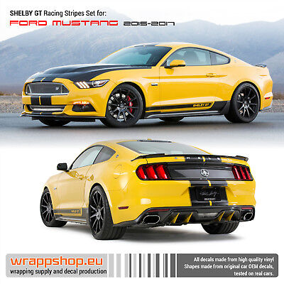 Mustang Shelby GT Racing Stripes set 2015 2016 2017 2018