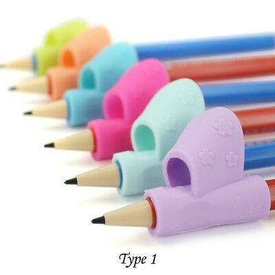 For Kid Pencil Holder Pen Writing Aid Grip Posture Correction Tool *3pcs W9X