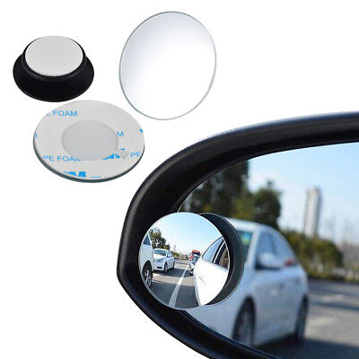 2x Car Rear View Mirror HD 360° Rotating Adjustable Wide Angle Convex Blind Spot