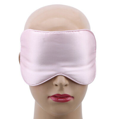 Men Women Double-layer Mulberry Silk Soft Eye mask Shading Eye Silk Sleep Mask B