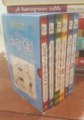 Diary of a Wimpy Kid Collection 6 Book Set Slipcase Box Set 1- 6 Free Shipping