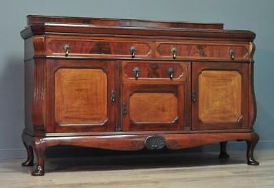 Attractive Large Antique Carved Mahogany Sideboard Cabinet on Queen Anne Legs
