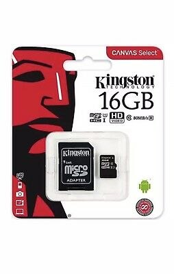 Kingston Micro SD 16GB SDHC Memory Card Microsd Mobile Phone Class 10 80MB/s