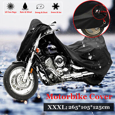 Outdoor Cover Scooter Motorbike Protector Motorcycle 265*105*125cm 1PCS Black