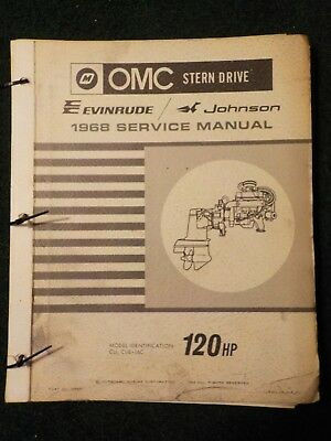 johnson evinrude 1968 repair service manual