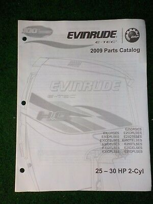 OUTBOARD PARTS MANUAL Evinrude Johnson Year 2002 Catalog