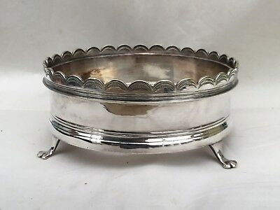 An Asprey Silver Plated Wine Holder/Coaster With Feet, C.1925