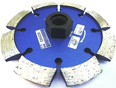 4.5'' x .375 (3/8'') crack chaser with 5/8'' threaded arbor for angle grinder