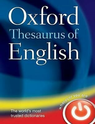 NEW Oxford Thesaurus of English By Oxford Dictionary Hardcover Free Shipping