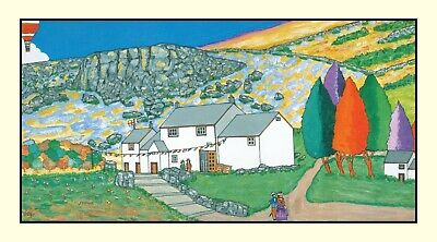 ILKLEY, White Wells, Mixed Media Art Print