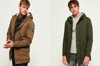 New Mens Superdry Military Parka Jacket Rusty Gold