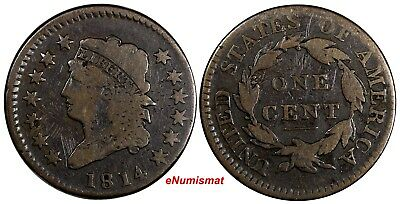 US Copper 1814 Classic Liberty Large 1 Cent EX.LUX FAMILY COLLECTION
