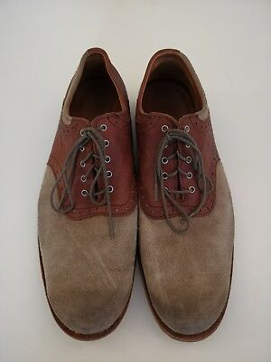 Timberland Boot Company 9 43 Vintage Retro Brown Brogue Oxfords Suede / Leather