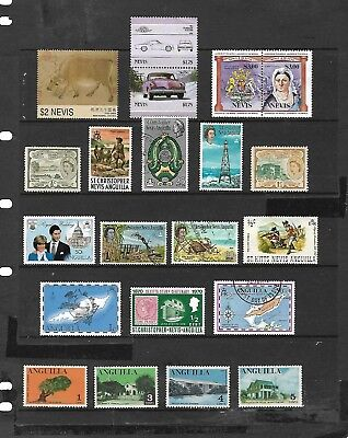 ST.CHRIS-NEVIS-ANGUILLA stamp selection (REF.213a)