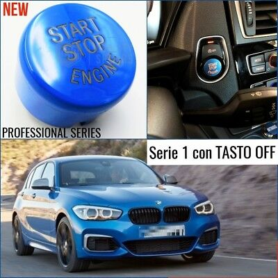 PULSANTE start BLU BMW serie 1 F20 F21 tasto ACCENSIONE msport accessori interni