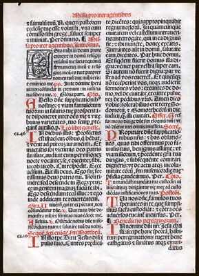 Mass to EndThe Persecution of The Church & It's People 1566  Missal Leaf