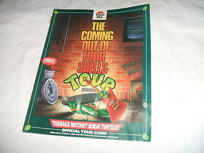 Pizza Hut Ninja Turtles The Coming Out of Their Shells Tour Guide1990