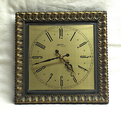 ATLANTA Electric Wanduhr braun-gold - Junghans-Quartzwerk - TOP