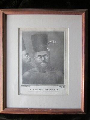 Original Antique 1777 Engraving By Aliamet After W Hodges Man of New Caledonia