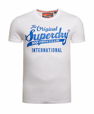 New Mens Superdry 100 Club T-Shirt Optic