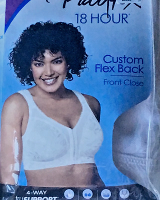 d6a37d1065711 PLAYTEX 18 HR Flex Back Front Closure Wire Free Full-Figure 4695 Bra .