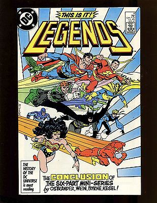 Legends #6 VFNM Byrne 1st Full New Justice League, Captain Marvel, Suicide Squad
