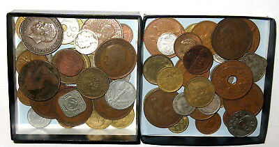 60+ Lot Of VINTAGE World Coins INCLUDES 1800s, 1900s & SILVER Coins! (p61)