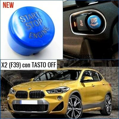 TASTO ACCENSIONE BLU BMW X2 F39 pulsante START m sport accessori interni tuning