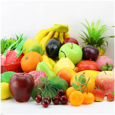 Fashion Artificial Plastic Fruits Kitchen Fake Display Party Home Food Decor